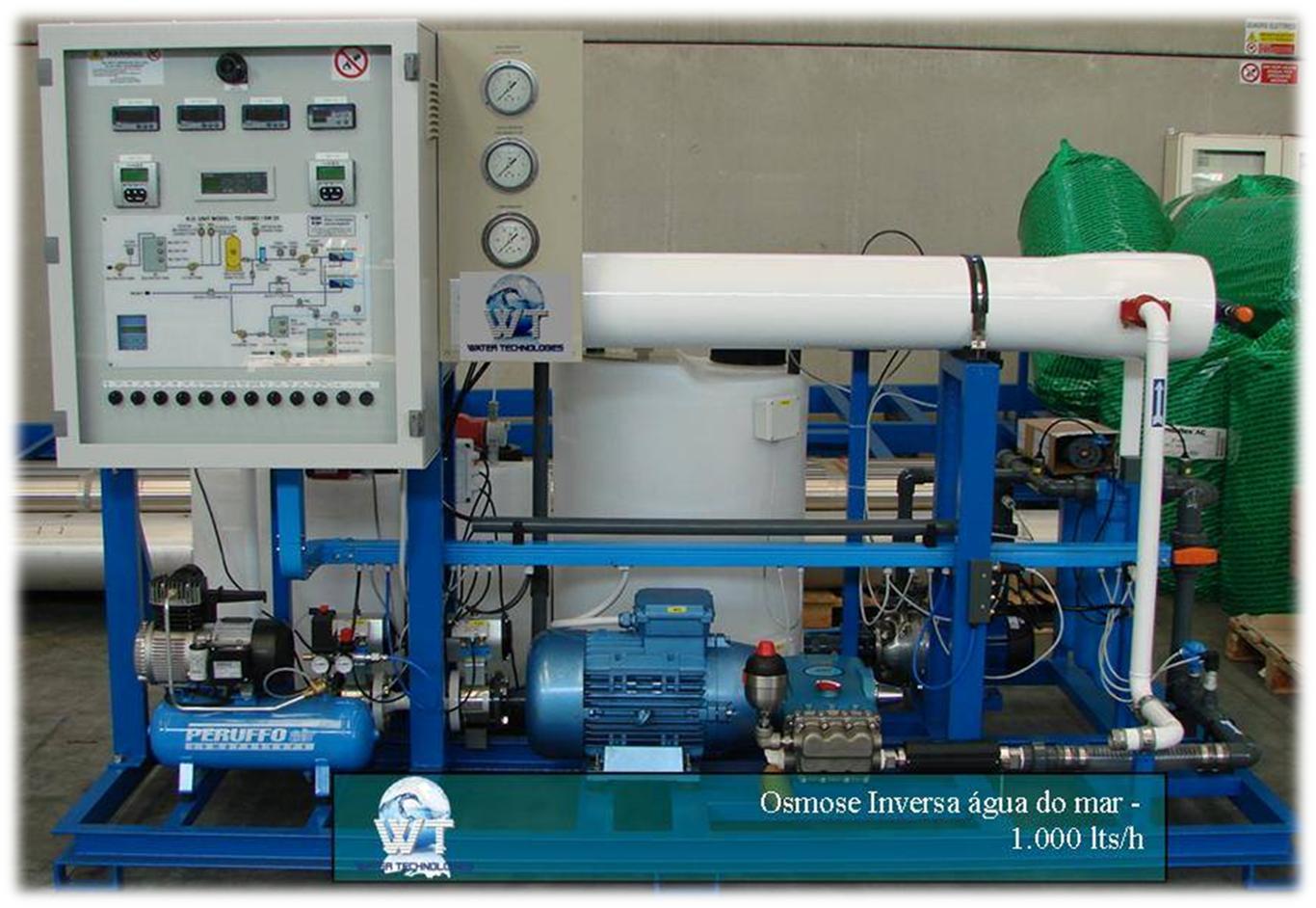 osmose inversa agua do mar 1000 lts h